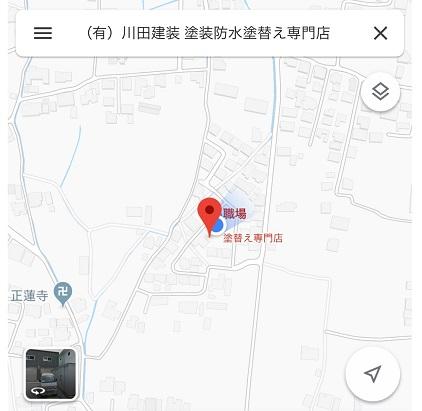 川田建装グーグルマップ